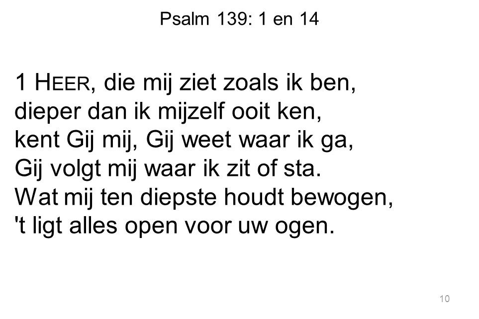 Psalm 139: 1 en 14