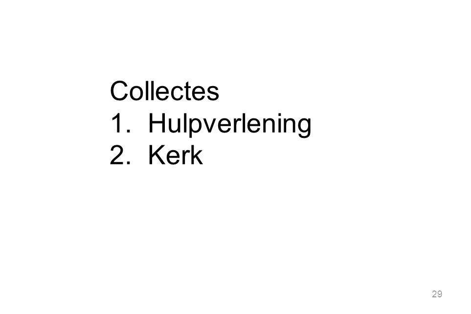 Collectes Hulpverlening Kerk