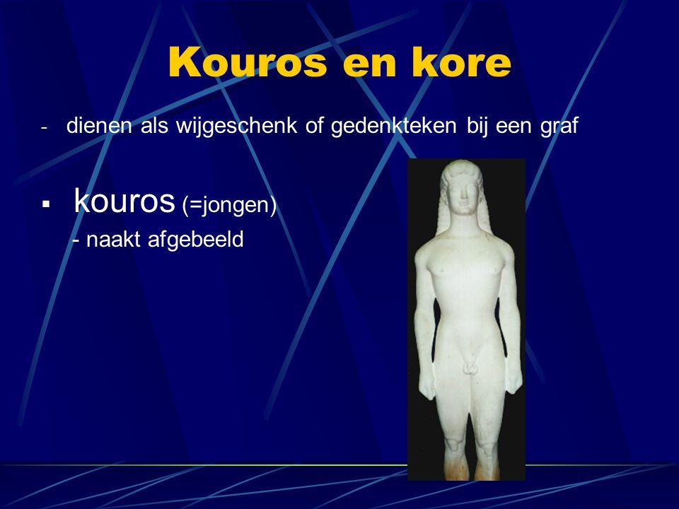 Kouros en kore kouros (=jongen)