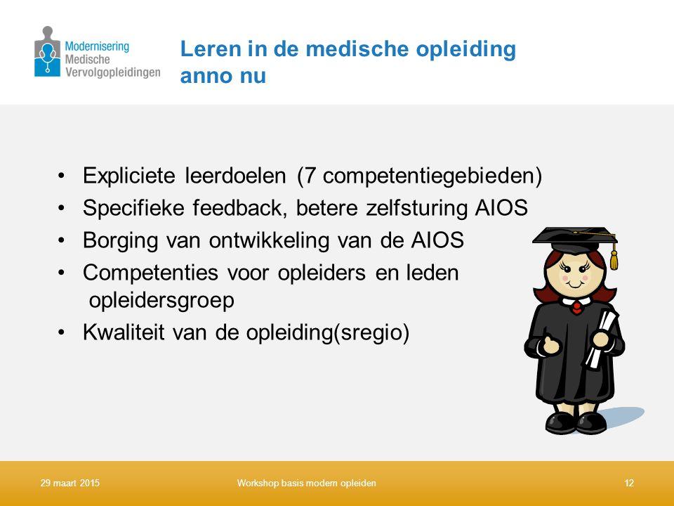 Leren in de medische opleiding anno nu