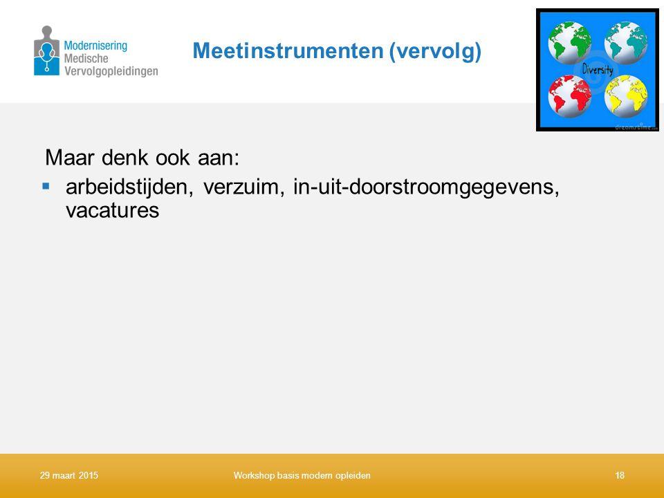 Meetinstrumenten (vervolg)