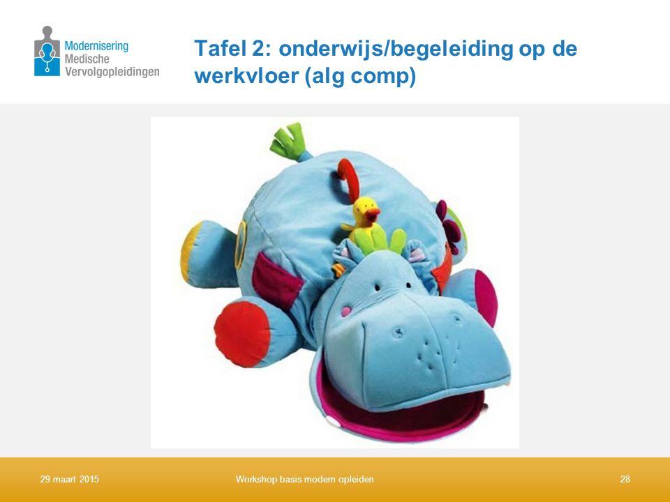 Tafel 2: onderwijs/begeleiding op de werkvloer (alg comp)