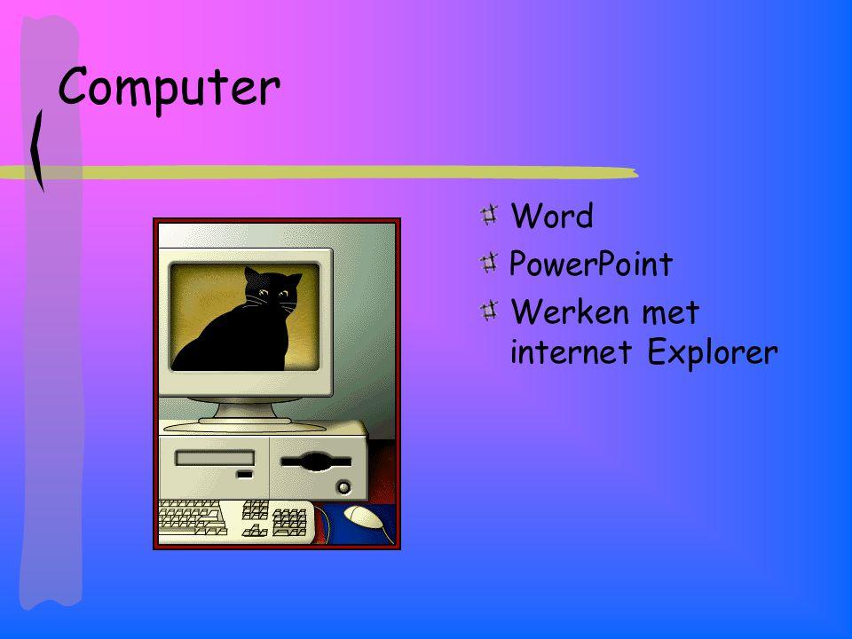 Computer Word PowerPoint Werken met internet Explorer