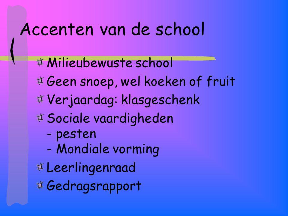 Accenten van de school Milieubewuste school
