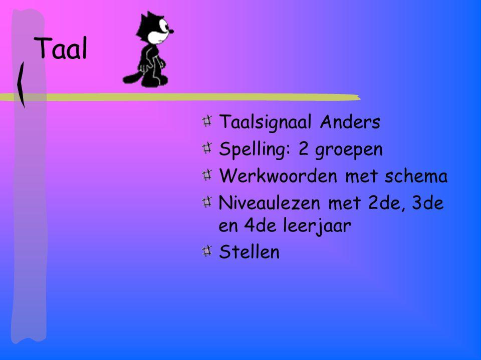 Taal Taalsignaal Anders Spelling: 2 groepen Werkwoorden met schema