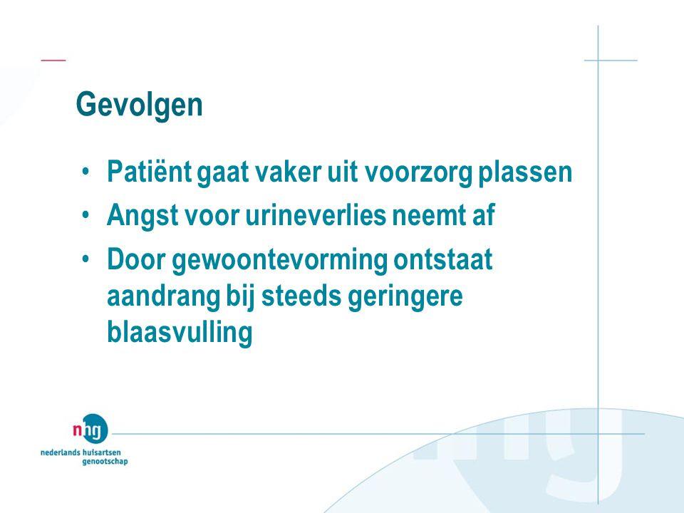 Gevolgen Patiënt gaat vaker uit voorzorg plassen