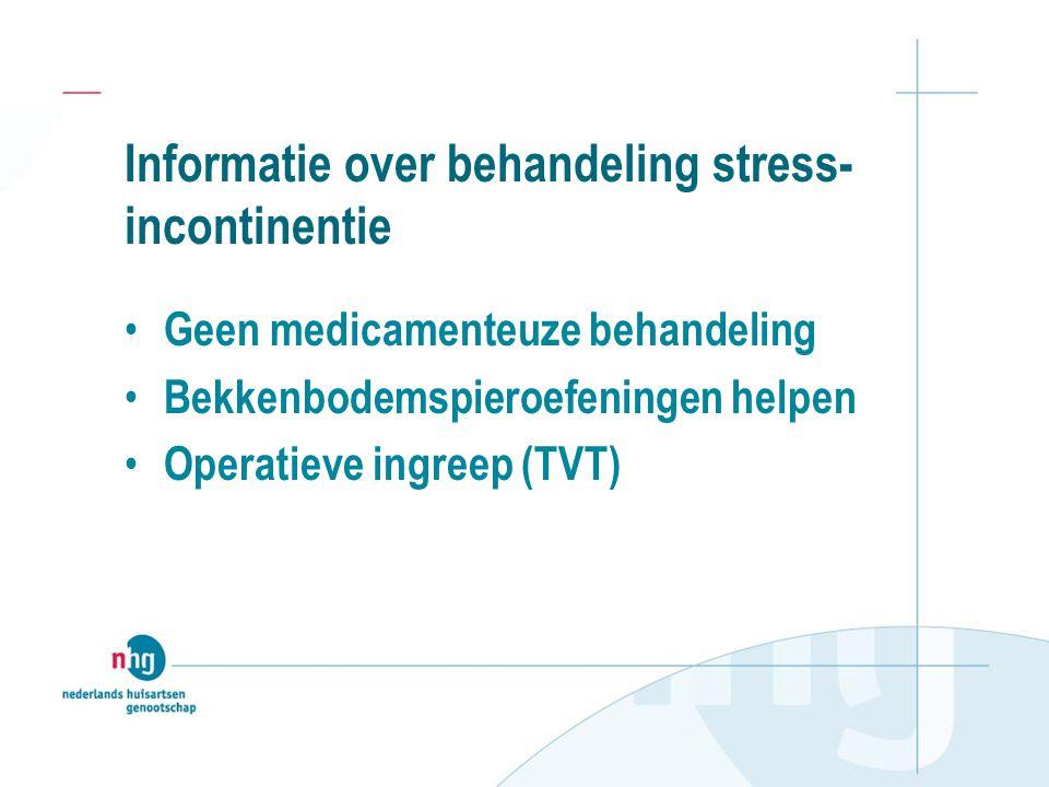 Informatie over behandeling stress-incontinentie