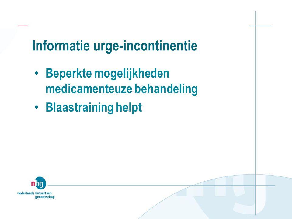 Informatie urge-incontinentie