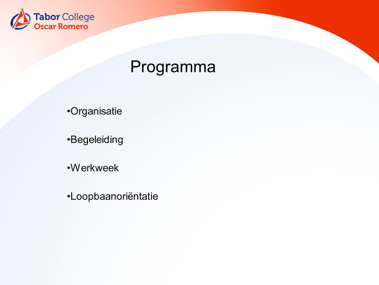 Programma Organisatie Begeleiding Werkweek Loopbaanoriëntatie