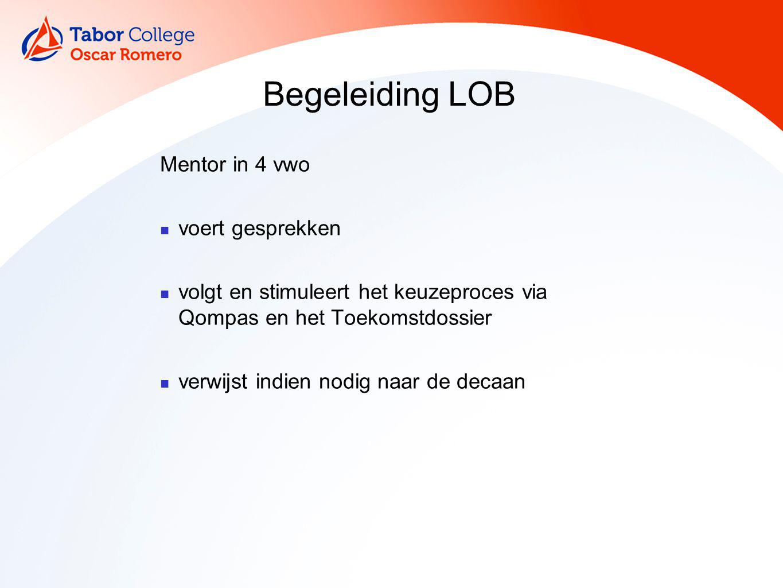 Begeleiding LOB Mentor in 4 vwo voert gesprekken