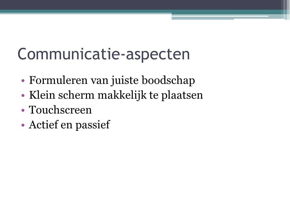 Communicatie-aspecten