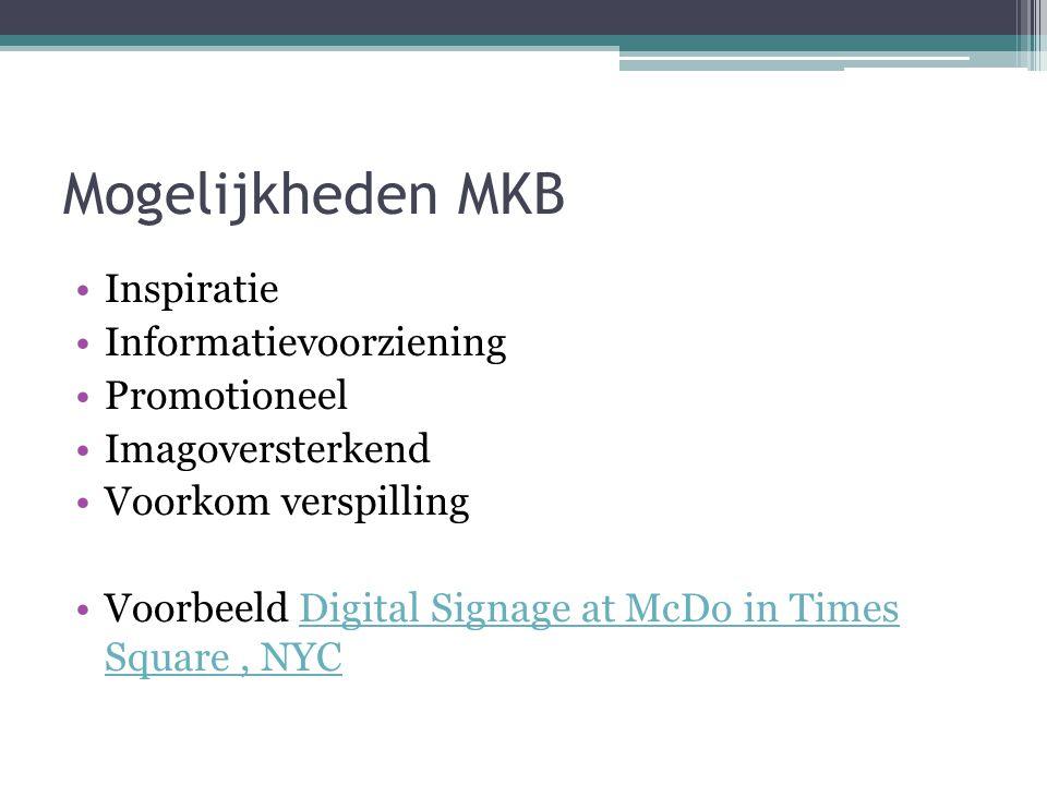 Mogelijkheden MKB Inspiratie Informatievoorziening Promotioneel