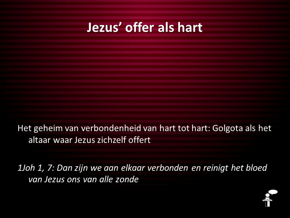 Jezus' offer als hart