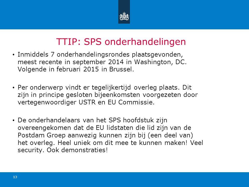 TTIP: SPS onderhandelingen