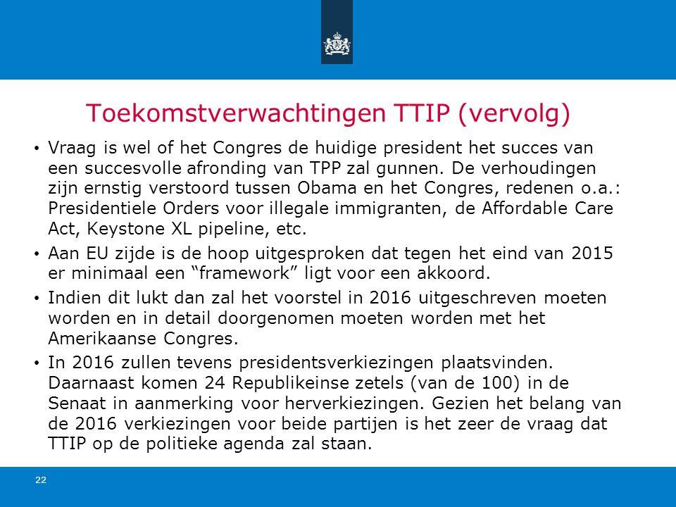 Toekomstverwachtingen TTIP (vervolg)
