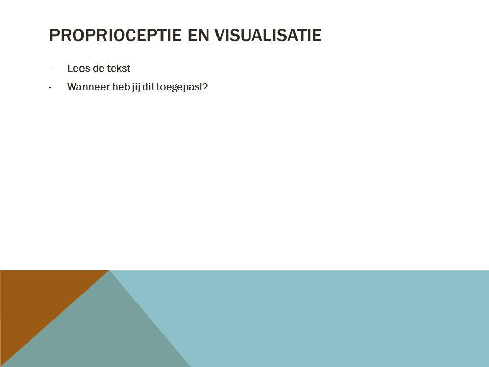 Proprioceptie en visualisatie