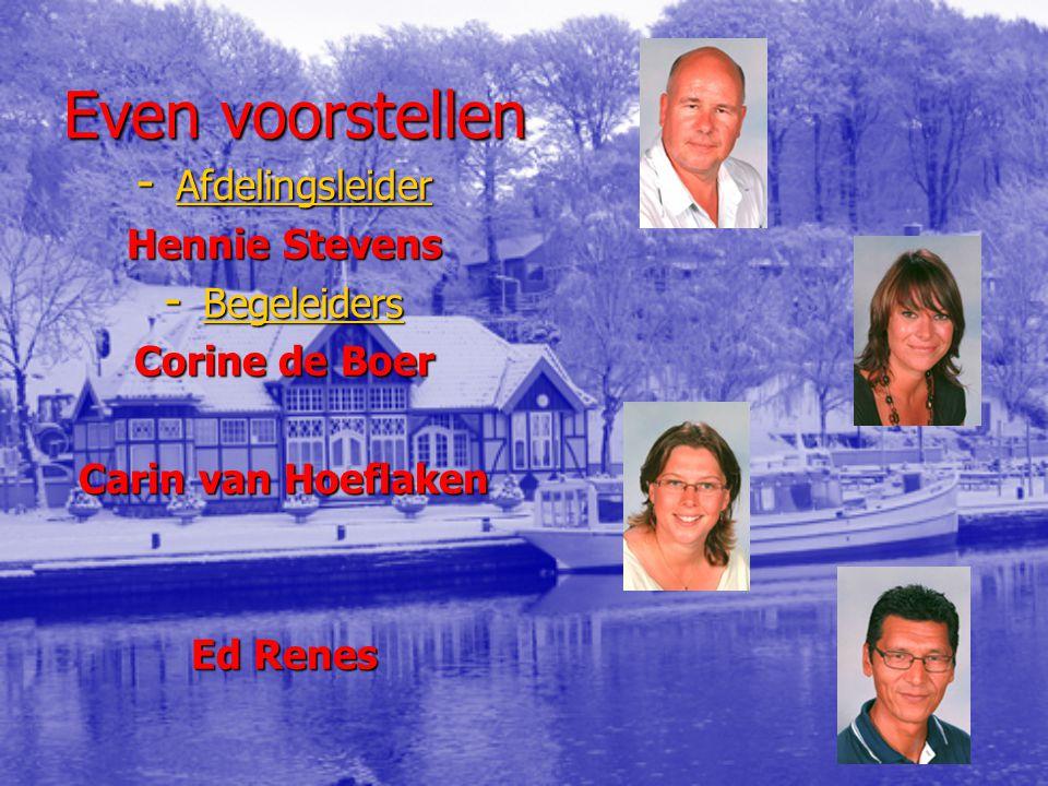 Even voorstellen Afdelingsleider Hennie Stevens Begeleiders