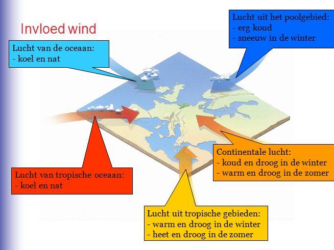 Invloed wind Lucht uit het poolgebied: erg koud sneeuw in de winter