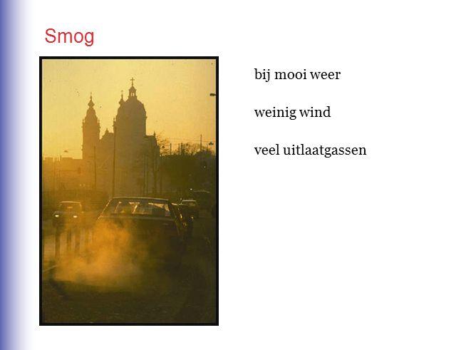 Smog bij mooi weer weinig wind veel uitlaatgassen