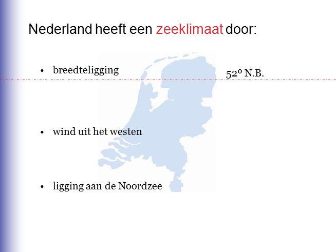 Nederland heeft een zeeklimaat door: