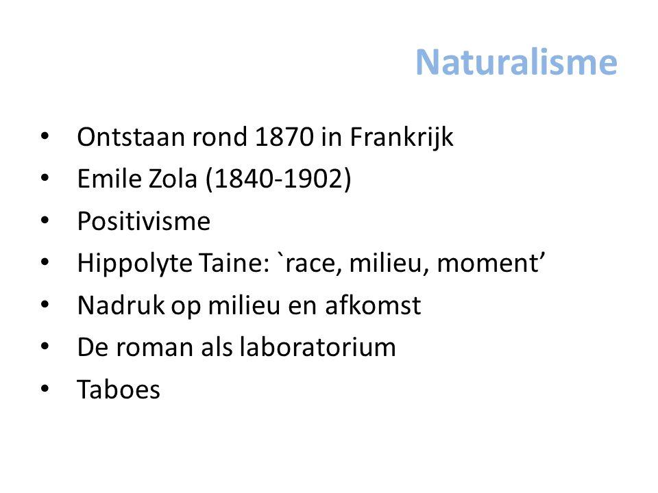 Naturalisme Ontstaan rond 1870 in Frankrijk Emile Zola (1840-1902)