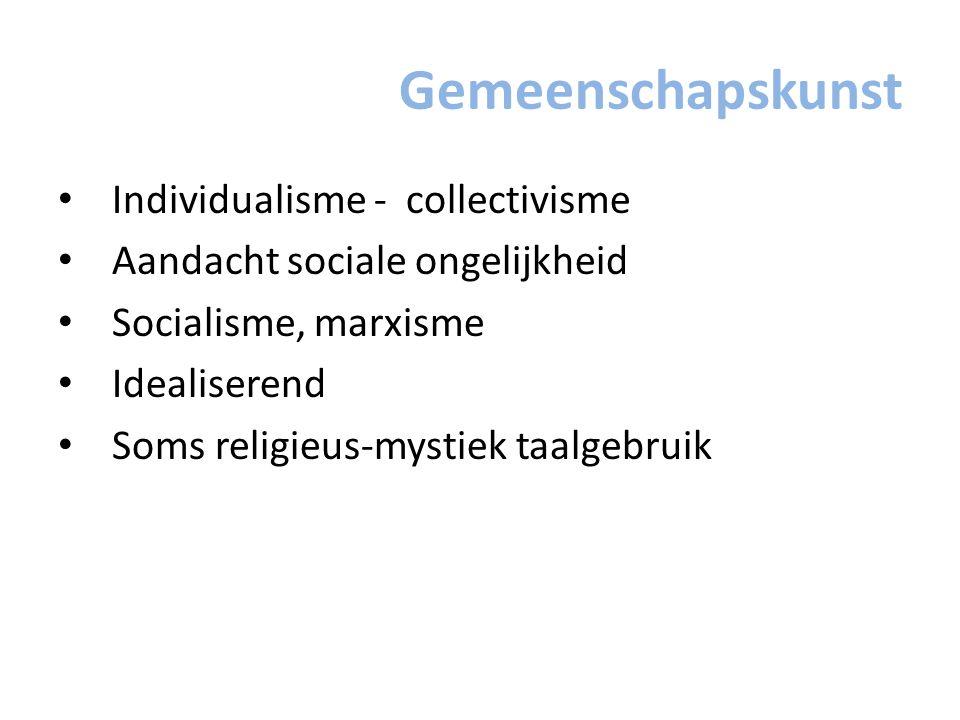 Gemeenschapskunst Individualisme - collectivisme