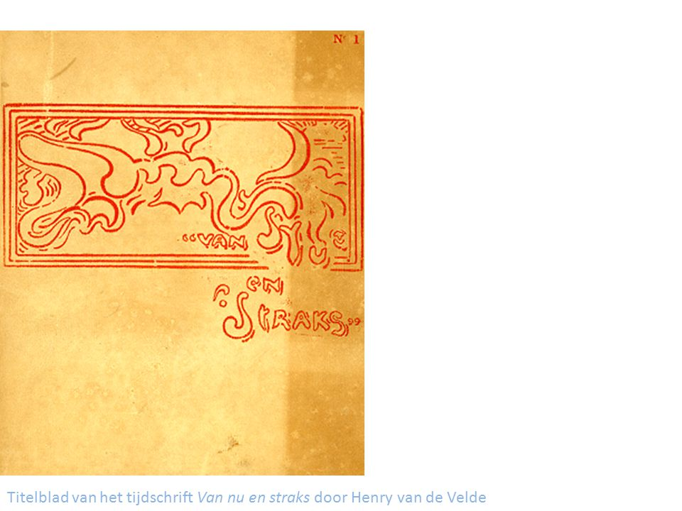 Titelblad van het tijdschrift Van nu en straks door Henry van de Velde