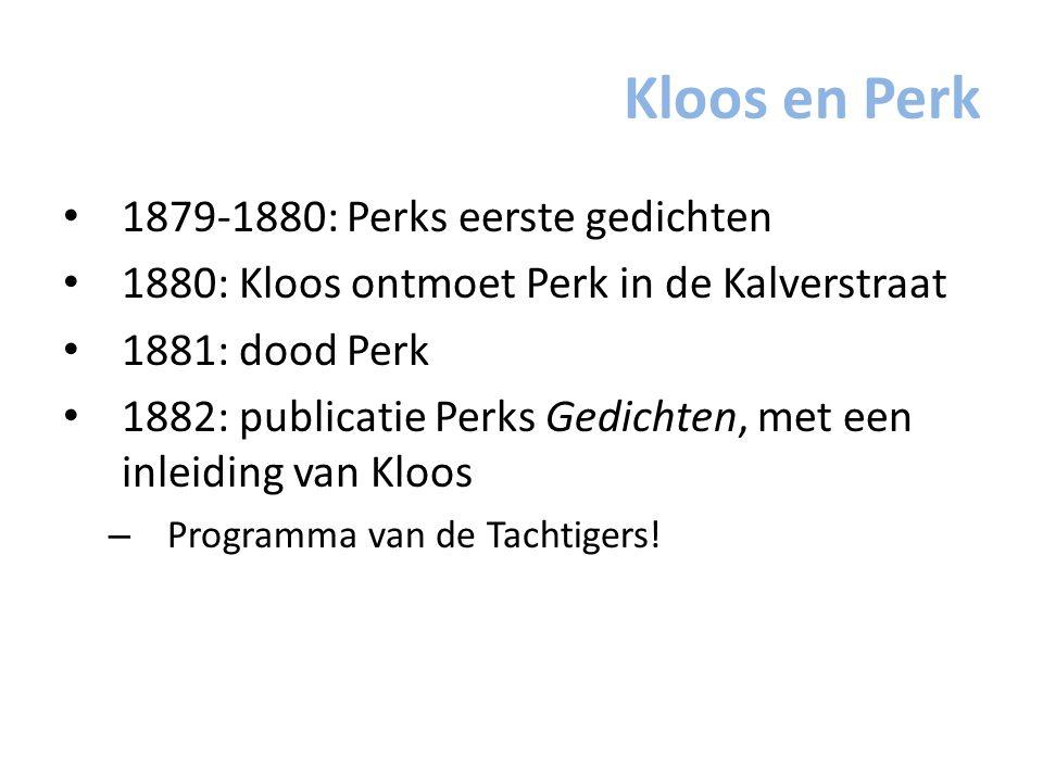Kloos en Perk 1879-1880: Perks eerste gedichten