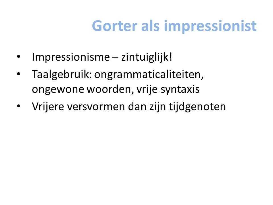 Gorter als impressionist