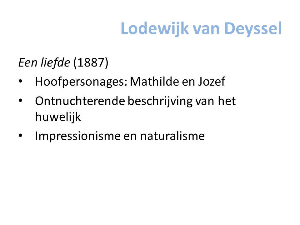 Lodewijk van Deyssel Een liefde (1887)