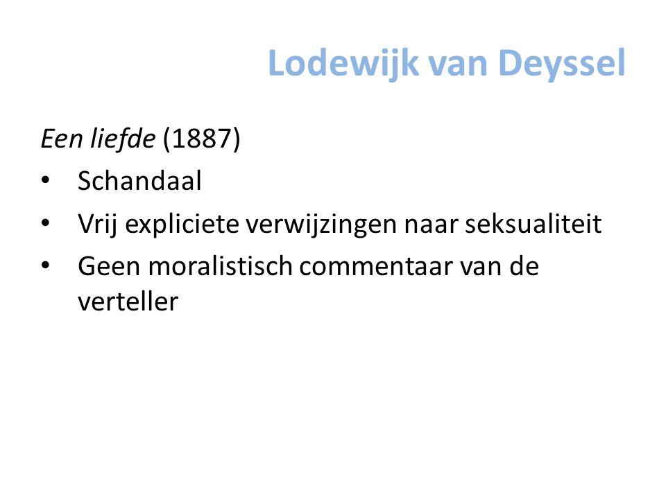 Lodewijk van Deyssel Een liefde (1887) Schandaal