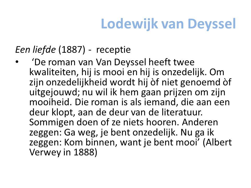 Lodewijk van Deyssel Een liefde (1887) - receptie