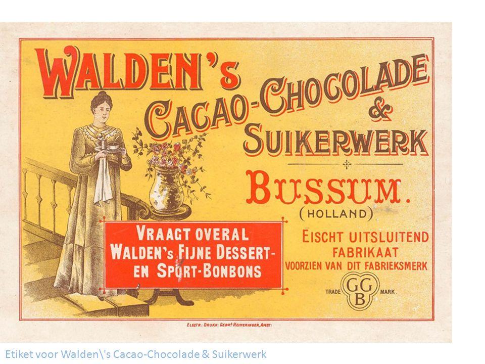 Etiket voor Walden\ s Cacao-Chocolade & Suikerwerk