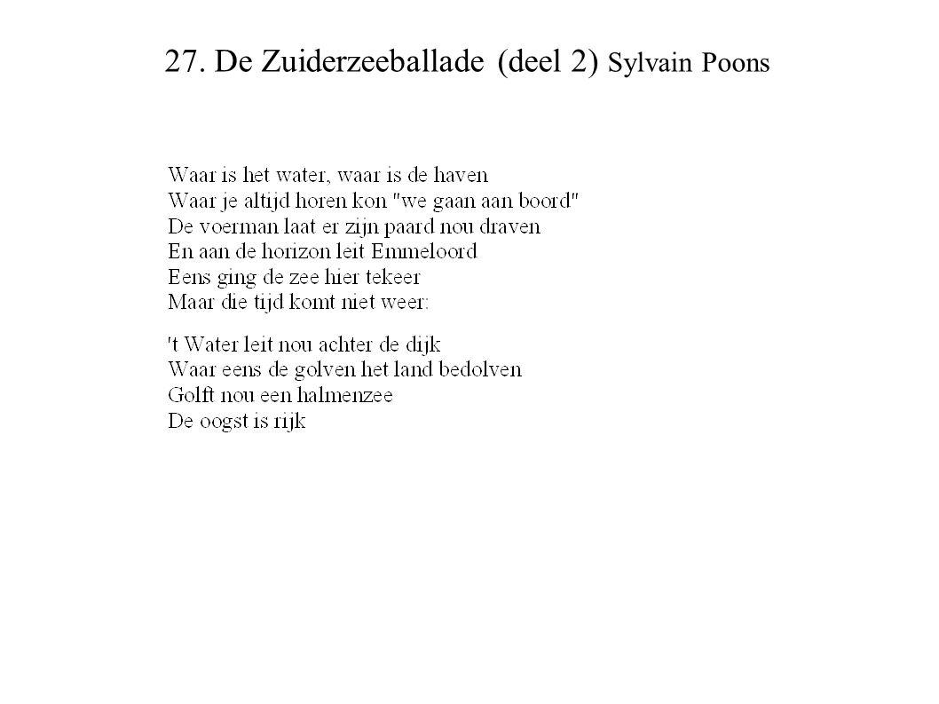 27. De Zuiderzeeballade (deel 2) Sylvain Poons