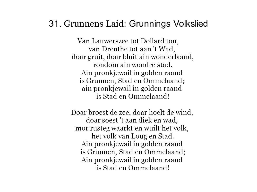 31. Grunnens Laid: Grunnings Volkslied