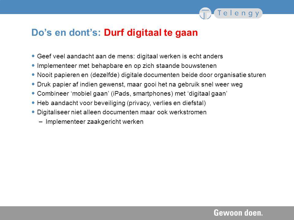 Do's en dont's: Durf digitaal te gaan