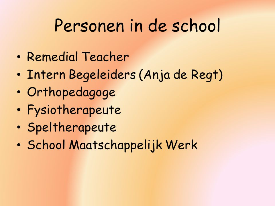 Personen in de school Remedial Teacher