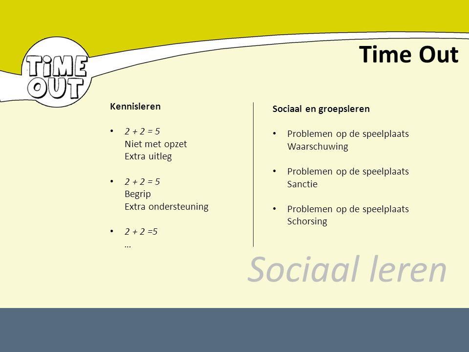 Sociaal leren Time Out Kennisleren Sociaal en groepsleren 2 + 2 = 5