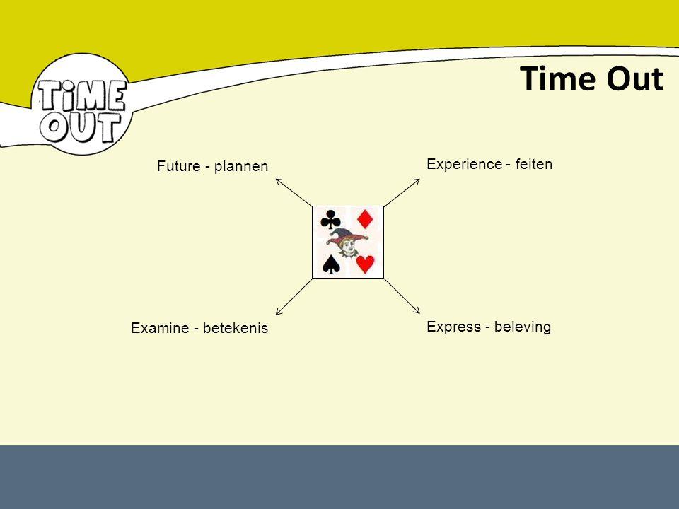 Time Out Future - plannen Experience - feiten Examine - betekenis