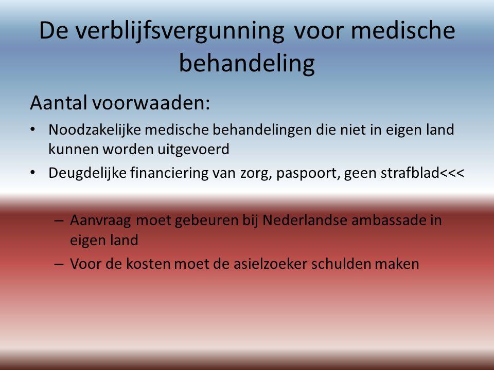 De verblijfsvergunning voor medische behandeling