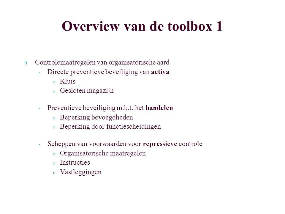 Overview van de toolbox 1