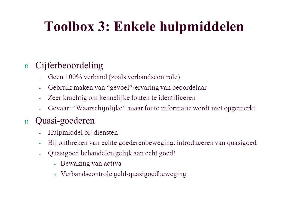 Toolbox 3: Enkele hulpmiddelen