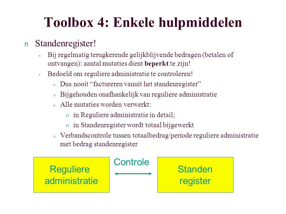 Toolbox 4: Enkele hulpmiddelen