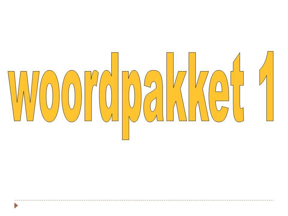 woordpakket 1