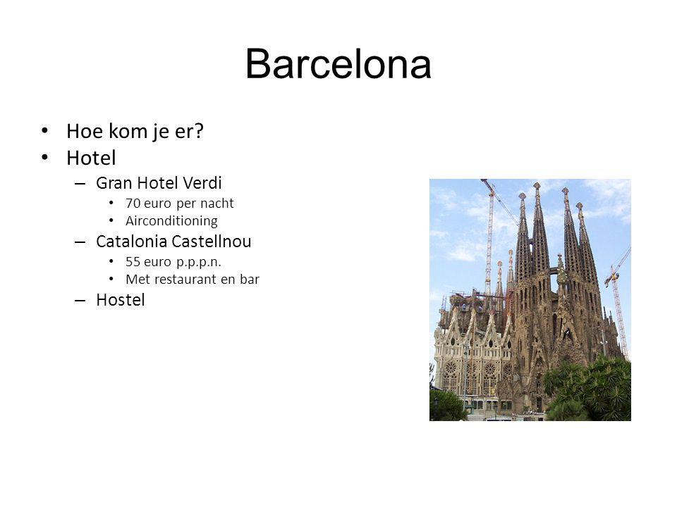 Barcelona Hoe kom je er Hotel Gran Hotel Verdi Catalonia Castellnou