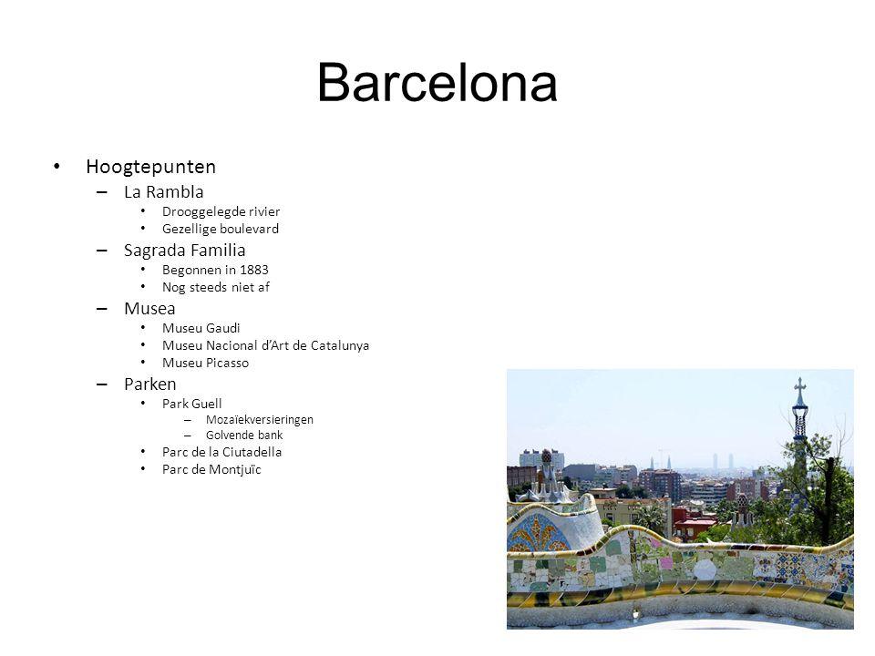 Barcelona Hoogtepunten La Rambla Sagrada Familia Musea Parken