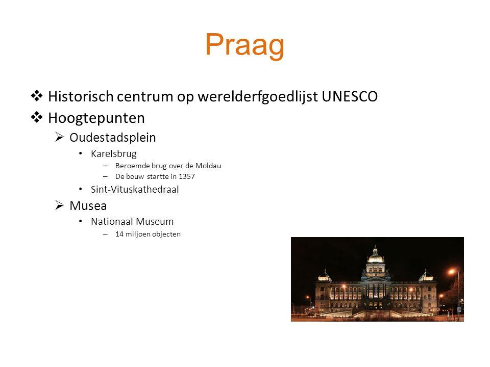 Praag Historisch centrum op werelderfgoedlijst UNESCO Hoogtepunten