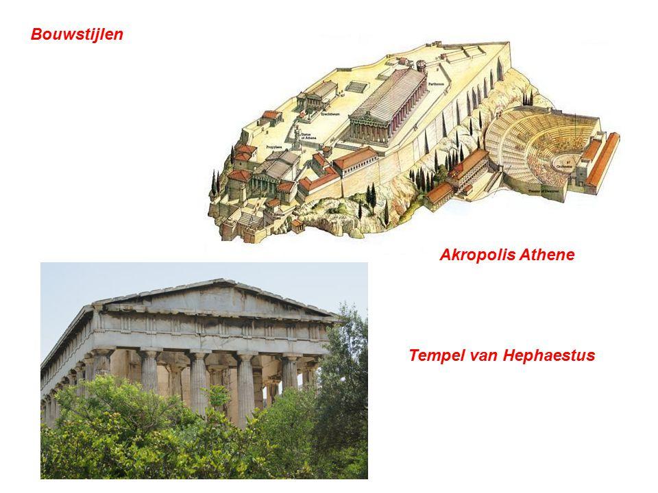 Bouwstijlen Akropolis Athene Tempel van Hephaestus
