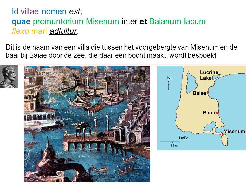 quae promuntorium Misenum inter et Baianum lacum flexo mari adluitur.