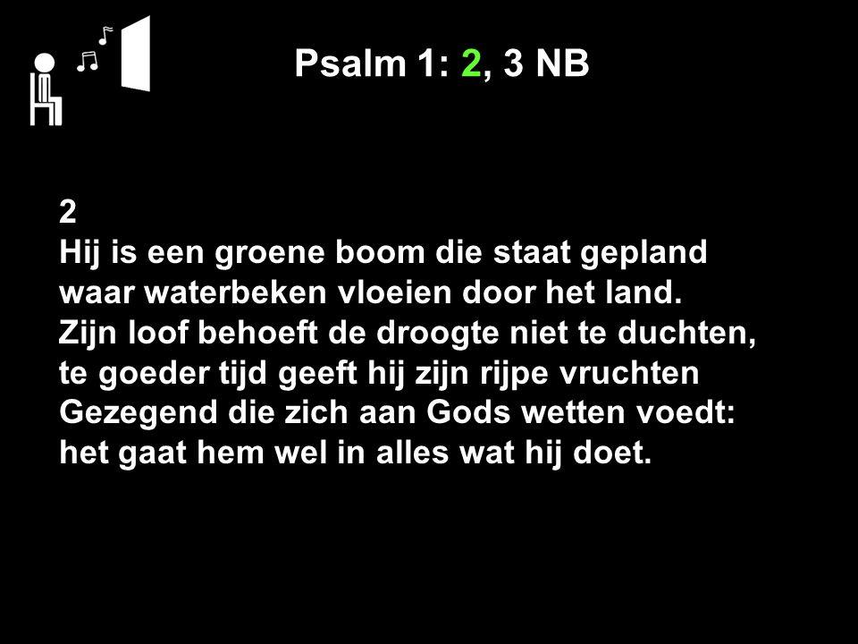 Psalm 1: 2, 3 NB 2 Hij is een groene boom die staat gepland